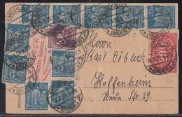 DR Karte Mif Minr.220,10x 239,268 Karlsruhe 18.8.23 - Deutschland