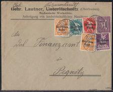 DR Brief Mif Minr.2x 120,122,125,126,164 Creussen 21.2.22 - Deutschland