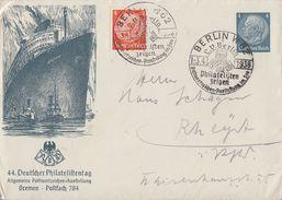DR Privat-GS-Umschlag 44. Dt. Philatag Bremen SST Berlin 1.-3.4.38 - Briefe U. Dokumente