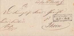 Brief R2 Marienwerder 12.12. Gel. Nach Thorn - Preussen