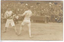 BOXEURS - CARTE PHOTO - Boxing