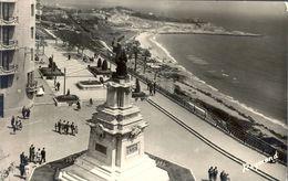1955 , TARRAGONA - PASEO CALVO SOTELO Y BALCON DEL MEDITERRANEO , TARJETA POSTAL CIRCULADA - Lérida