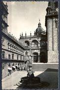 GALICIA , CORUÑA , SANTIAGO DE COMPOSTELA - CATEDRAL , PLAZA DE LAS PLATERIAS , TARJETA POSTAL NO CIRCULADA - Santiago De Compostela