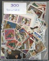 BHUTAN, 300 DIFFERENT, NICE PAKET/COLLECTION - Bhoutan