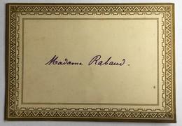 MENU Du 22 Mai 1894 - Menus