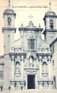 GALICIA , CORUÑA , IGLESIA DE SAN JORGE, TARJETA POSTAL NO CIRCULADA - La Coruña