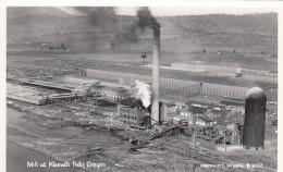 Klamath Falls Oregon, Lumber Mill On River, C1950s Vintage Real Photo Postcard - Other