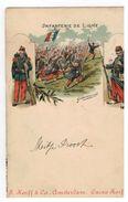 Infanterie De Ligne ; Litho , Carl Kunzli,Zurich C.K.Z. N°1 1028  Met Reclame:Cacao Korff Amsterdam - Régiments