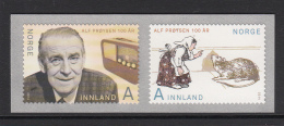 Norway 2014 Set Of 2 Alf Proysen , Mrs. Pepperpot - 100 Years - Contes, Fables & Légendes