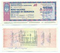 Argentina - 2500 Australes 1989 AUNC Emergency Note - Argentina