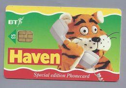 Telefoonkaart.- Télécartes. Telecard. Phone Card. HAVEN. Special Edition Phonecard. BT. Gebruikt. 2 Scans - Reclame