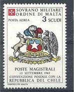 1986 ORDRE MALTE PA F26 ** Armoirie Chili , Issu De Feuille - Malte (Ordre De)