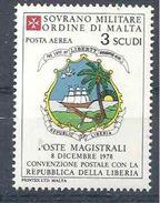 1986 ORDRE MALTE PA F26 ** Armoirie Liberia , Issu De Feuille - Malte (Ordre De)