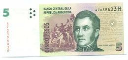 Argentina - 5 Peso 2013 UNC - Argentine