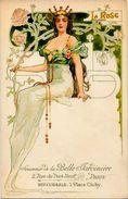CPA Publicité Publicitaire Non Circulé La Belle Jardinière Paris Art Nouveau Type Mucha Kirchner Voir Scan Du Dos - Werbepostkarten