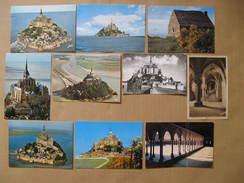 LOT DE 10 CPSM COULEURS & NOIR BLANC LE MONT SAINT MICHEL .. - Le Mont Saint Michel