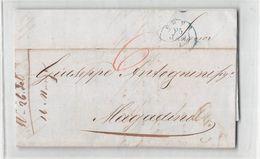 B601 01 HELVETIA  CHUR TO MAGADINO 1851 - 1843-1852 Timbres Cantonaux Et  Fédéraux