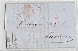 B748 01 HELVETIA LUZERN TO MAGADINO 1851 - 1843-1852 Timbres Cantonaux Et  Fédéraux