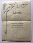 MENU Du 22 Juillet 1896 - Menus