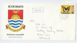 1981 KIRIBATI COVER Stamps BUTTERFLY  To GB Butterflies Insect - Kiribati (1979-...)