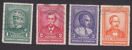 Dominican Republic, Scott #311-313, 316, Used, Famous Men Of Dominican Republic, Issued 1936 - Dominican Republic