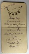 MENU Du 21 Janvier 1896 - Menus