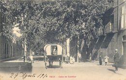 1900 CATALUÑA , TARRAGONA - REUS - CALLE DE CASTELAR, TARJETA POSTAL CIRCULADA - Tarragona