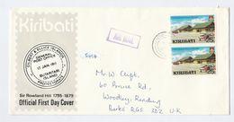 KIRIBATI COVER Stamps BONRIKI AIRPORT Aircraft To GB Aviation - Kiribati (1979-...)