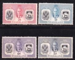 NYASSALAND, 1951, Mint Hinged Stamps , MI 93-96, Protectorates,  Complete (some Brown Marks) #542 - Nyasaland (1907-1953)