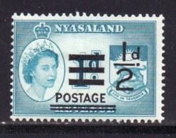 NYASSALAND, 1963, Mint Never Hinged Stamp(s) , MI 114, 1/2d Overprint,   #566 - Nyasaland (1907-1953)