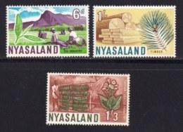 NYASSALAND, 1964, Mint Never Hinged Stamp(s) , MI 125=132, Independence,   #568 (3 Values Only) - Nyasaland (1907-1953)