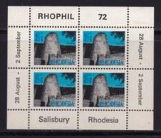 RHODESIA, 1972, Mint  Hinged Stamp(s) , MI 90, Rhophil Min. Sheet,   #594 - Rhodesia (1964-1980)