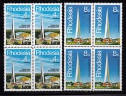 RHODESIA, 1978, Mint Never Hinged Stamp(s) , MI 204-205, Rhodesia Fair,   #614 2 Blocks Of 4 - Rhodesia (1964-1980)