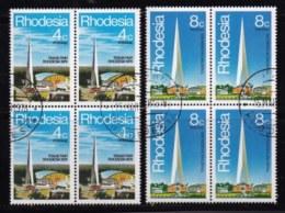 RHODESIA, 1978, Cancelled To Order Stamp(s) , MI 204-205, Rhodesia Fair,   #615  2 Blocks Of 4 - Rhodesia (1964-1980)