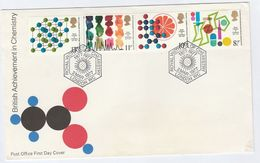 1977 GB FDC Stamps CHEMISTRY With SPECIAL Pmk INSTITUTE OF CHEMISTRY London Cover - Chemistry