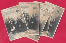 CPA Enfance (Série Complète De 5) LES CONFIDENCES De BEBE Humour Graines De Choux Roses Grand-Père Enfants Gustave Harel - Enfants