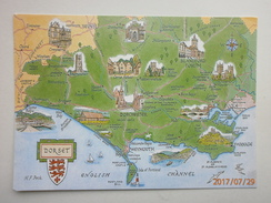 Postcard Map Of Dorset My Ref B21704 - Maps
