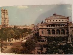 CP PARIS PLACE DU CHATELET ET TOUR SAINT-JACQUES - France