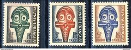 Polynesie Tasse 1958 Serie N. 1-3 MNH Cat. € 2.90 - Portomarken