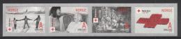 Norway 2015 Strip Of 4 A Innland Norwegian Red Cross 150 Years - Croix-Rouge