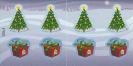 Norway 2015 Booklet 2 Panes Of 4 2 Each A Innland Tree, Present - Christmas - Carnets