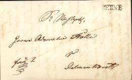 Swiss Canton: Letter Mit Einzeiler Berne - Switzerland