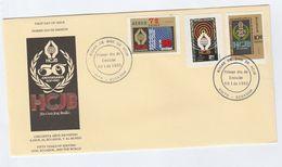 1980 BRAZIL  FDC HCJB Holy Cristo Jesus Bendice Stamps Cover Religion - FDC