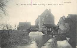 """/ CPA FRANCE 21 """"Saint Symphorien Sur Saône, Chute D'eau Du Moulin"""" - France"""
