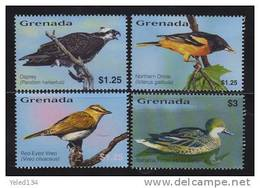 GRENADA   3402-5 MINT NEVER HINGED SET OF STAMPS OF BIRDS   #  S-505   ( - Vögel