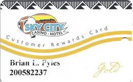 Sky City Casino - Acoma, NM -  Slot Card - Expires Sept 18, 2013 Sticker On Back - Casino Cards