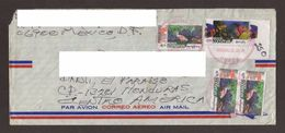 Mexico, Cover Sent From Mexico D.F-Danli With Stamps Mexico Preserved Mangroves-Birds, Reef-Fishes, 2003 - Mexico