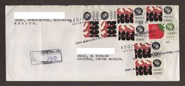 Mexico, Cover Sent From Buenaventura-Danli With Stamps Mexico Exports Agricultural Machinery, Strawberries, 1993 - Mexico