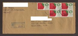 Mexico, Cover Sent From Fresnillo, Zacatecas-Danli With Stamps Mexico Exports Strawberries, 1994 - Mexico