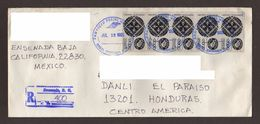 Mexico, Cover Sent From Ensenada, Baja California-Danli With Stamps Mexico Exports Wrought Iron, 1995 - Mexico